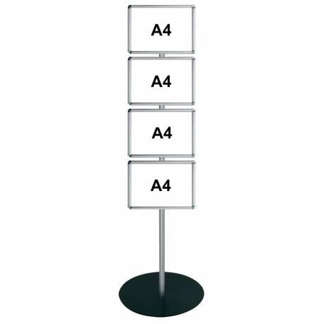 Porte visuel sur pied 4xA4 simple face H ou V 2014