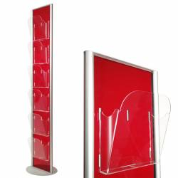 Colonne simple face porte brochure 6 x A4 2040