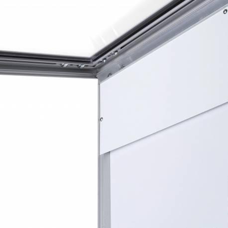 Porte menu mural argent 1 x A4 V 4805
